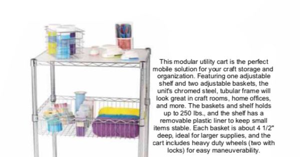 39 recollections craft storage systems 3 tier utility cart for Michaels craft storage cart