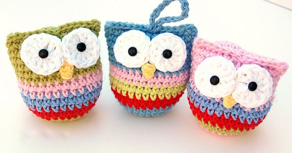 Crochet Owl Christmas Ornaments pattern by Recca Homick ...