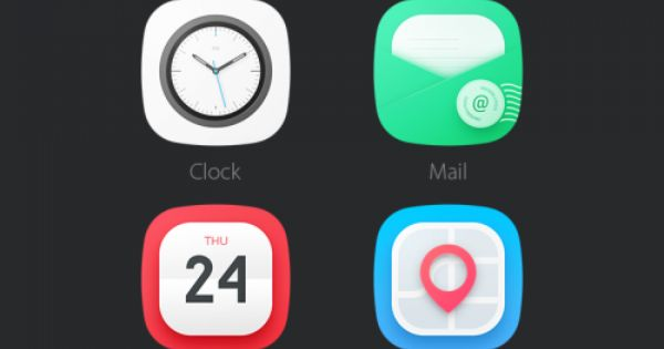 Flat Rounded Mobile App Icons Psd With Images Mobile App Icon