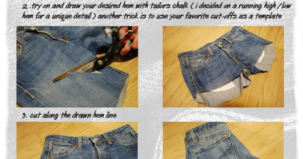 Great way to cut jean shorts!