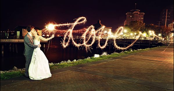 I Love Love Love this idea for wedding pictures. long exposures are