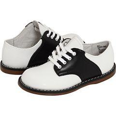 Footmates Cheer White Black Saddle Shoes Girls Oxford Shoes