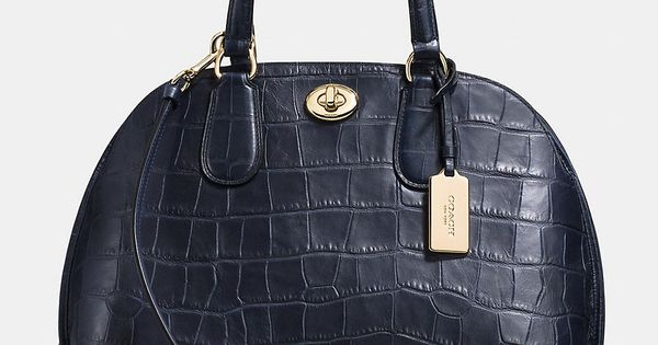 Prince Street Satchel in Croc Embossed Leather coach purses