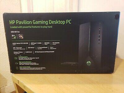 Ebay Link Ad Sealed Hp Pavilion Gaming Desktop Ryzen 5 2400g 8gb 1tb Gtx 1050 690 0013w Gaming Desktop Old Computers Nvidia