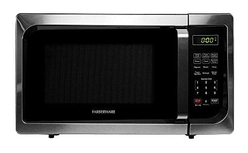 Farberware Classic Fmo09ahtbkc 0 9 Cubic Foot 900 Watt Microwave Oven Stainless Steel Stainless Steel Oven Microwave Oven Stainless Steel Microwave