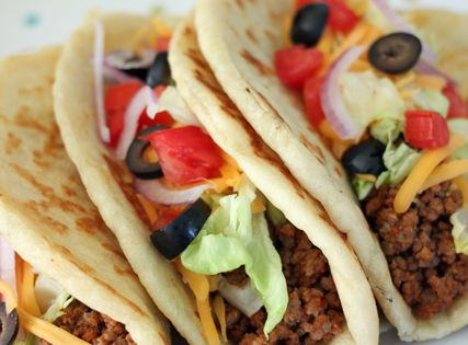 Easy Homemade Gorditas (The Flat Bread recipe is included)