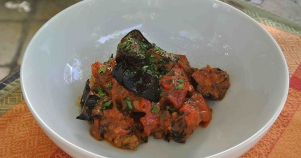 ... with eggplant, tomatoes and pancetta | Eggplants, Tomatoes and Chicken