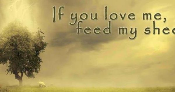 If You Love Me, Feed My Sheep.