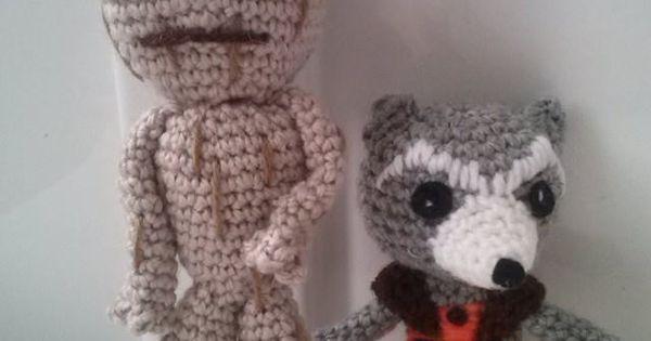 Groot and Rocket Raccoon crochet is art Pinterest ...