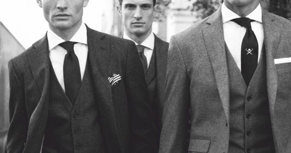 Charcoal Chelsea Suit by Hackett London