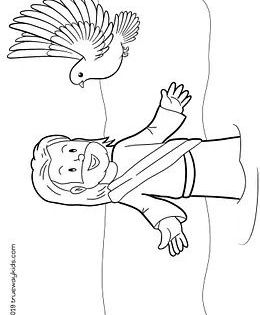 The Baptism Of Jesus Holy Spirit Like A Dove Jesus Coloring Pages Bible Coloring Pages Bible Coloring