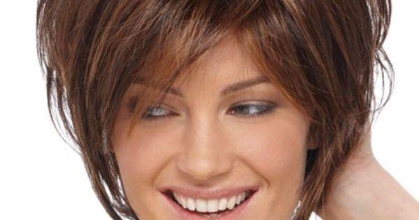 Short Sassy Shag With Soft Layeres Human Hair Wig, Short