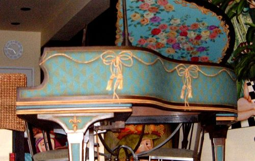 Painted Piano Baby Grand Piano
