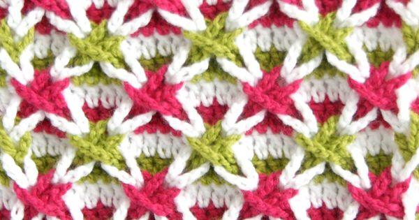 Crochet stitch un nuevo y divertido punto estrellas de - Esquema punto estrella crochet ...