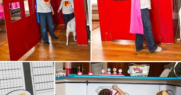 vintage superhero party | Vintage Pop Art Superhero Birthday Party // Hostess