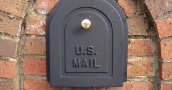 Details About 8 Brick Mailbox Door Cast Aluminum Replacement