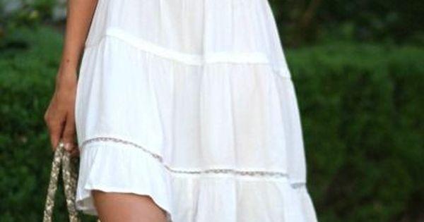 I love the idea of a white, casual, summer sundress!