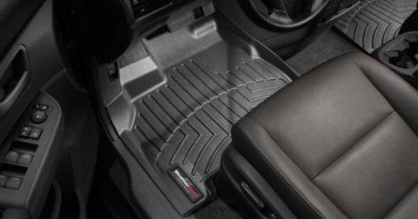 Front Liner 1st Row For Chevy Tahoe Gmc Yukon W 3rd Seat Not Fit Hybrid 2007 2008 2009 2010 2011 Black W Weather Tech Weather Tech Floor Mats Floor Liners