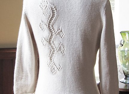 Dragon Lace Pullover pattern by Angela Hahn Flats ...