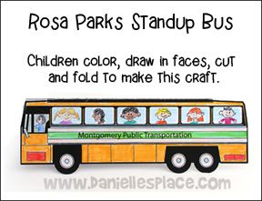 Rosa Parks Stand Up Bus Craft 1 Page All The Patterns Games And