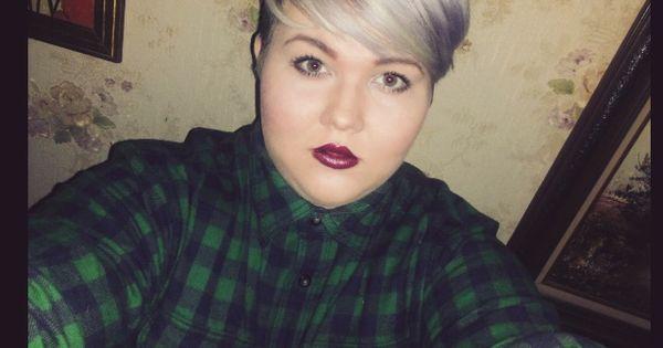 babe short hair selfie selfie fat fat babe plus sized fatshion pixie cut