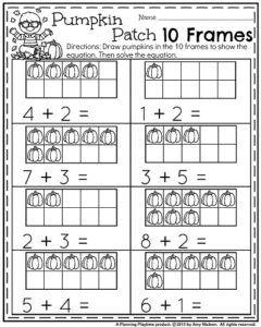 October Kindergarten Worksheets Planning Playtime Kindergarten Worksheets Kindergarten Activities Kindergarten Math Activities