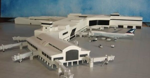 1 400 Scale Model Auckland International Airport Terminal Auckland Airport Model Airplanes Airport City