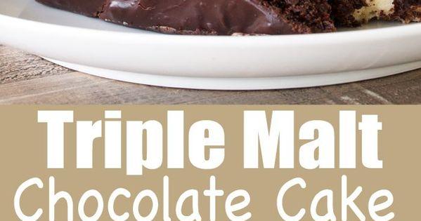 Triple Malt Chocolate Cake | Recipe | Chocolate malt and ...