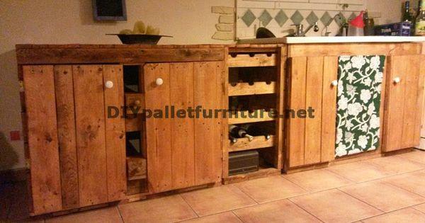 Muebles de palets cocina completamente amueblada con - Muebles para cocina economica ...