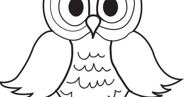 unique coloring pages owl cartoon - photo#1