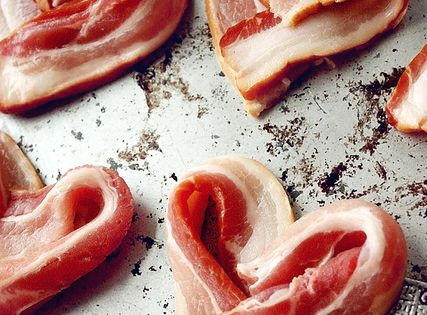 Heart Shaped Bacon! Another fun breakfast idea.