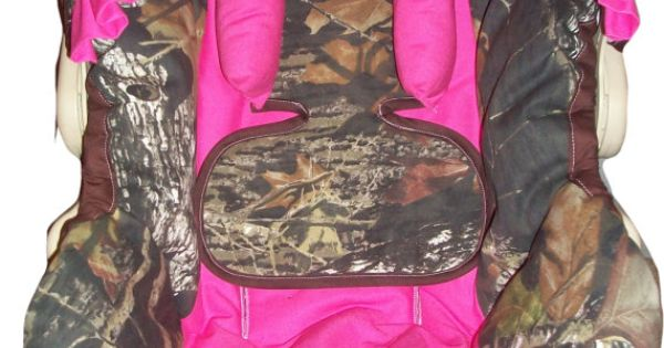 Mossy Oak Camo And Hot Pink Infant Car Seat By