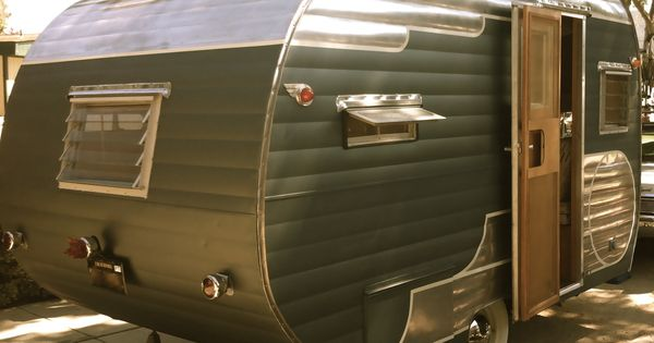 Vintage travel trailer