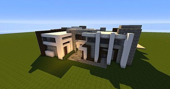 Novus modern house minecraft house design minecraft for Minecraft haus modern