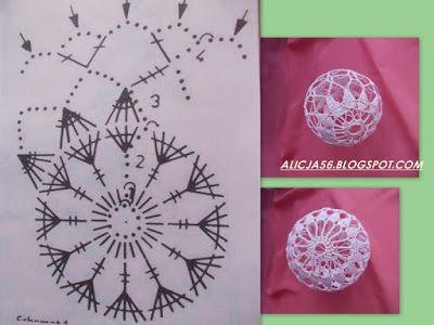 Zaczarowany Swiat Alicji Bombki 2015 Christmas Crochet Patterns Christmas Crochet Crochet Christmas Ornaments