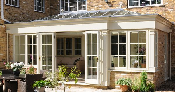 Glass conservatory additions if you go with the wooden for Garden room additions