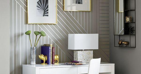 DIY Linear Wallpaper  인테리어 디자인 및 패턴