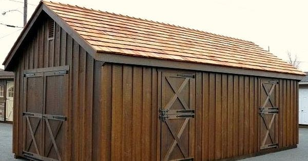 12 X24 2 Stall Horse Barn With Board And Batten Siding