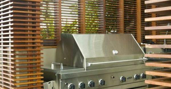 gartengrill edelstahl outdoor küche lattenzaun | terrasse, Gartengerate ideen