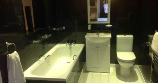10 Black Sparkle Upvc Bathroom Cladding Plastic Kitchen Wall Ceiling Panels Ebay Bathroom Wall Cladding Cladding Bathroom Cladding