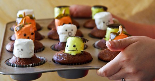Halloween Food Ideas Cupcake Marshmallows