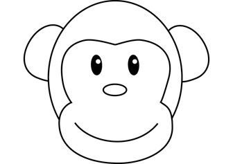 Bongo Monkey Coloring Drawing Monkey Coloring Pages Monkey Drawing Animal Crafts Preschool