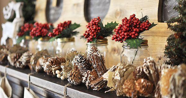 Rustic Woodland Christmas Mantel Christmas Mantels And