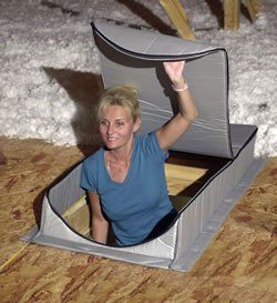 Insulsure At 2 Attic Tent 25 X 54 X 7 In The Attic Tent Is The Original Ultimate Folding Attic Stair Insulation Cover Ever Invented It Zolder Opberging