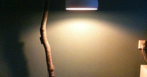 nature lamp bobeen schitterende boomstam omgebouwd tot