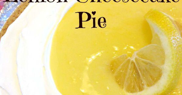 ...   Recipe   Cheesecake Pie, Lemon Cheesecake and Graham Cracker Crust
