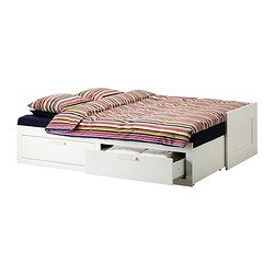 Brimnes Daybed Frame With 2 Drawers White Twin Bedbank