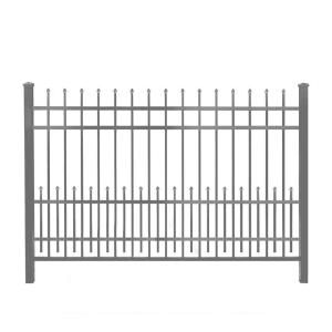 Mainstreet Aluminum Fence 3 4 In X 2 Ft X 6 Ft Bronze Aluminum Fence Puppy Guard Add On Panel 77331996 The Home Depot Aluminum Fence Iron Fence Steel Fence Panels