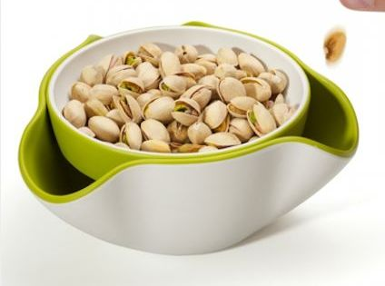 50 cool kitchen gadgets. A double bowl, so you can discard nut