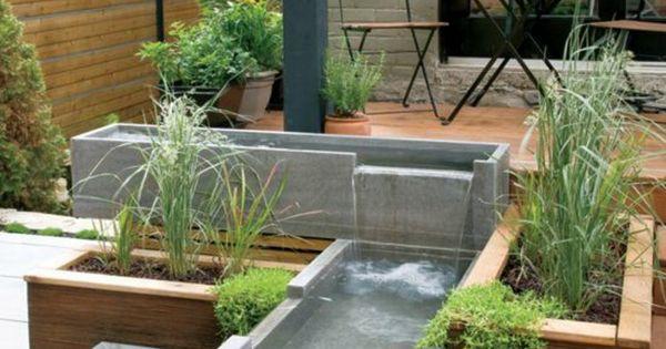 moderne terrassengestaltung mit holzboden teiche aus beton gartengestaltung garten und. Black Bedroom Furniture Sets. Home Design Ideas